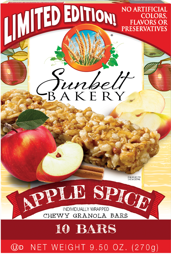Apple Spice Chewy Granola Bars