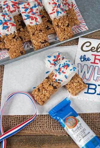 Chocolate Chip Firework Granola Bars